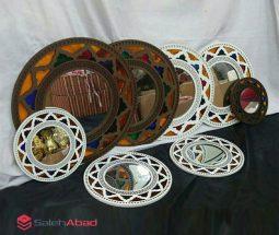 فروش عمده آینه گرد دیواری طرح سنتی