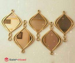 فروش عمده آینه چوبی لوزی مدل آویزدار