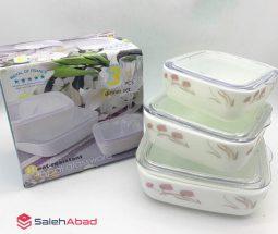 فروش عمده ظروف نگهداری غذا ۳ تکه آرکوپال