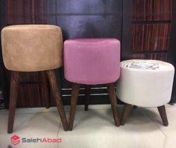 فروش عمده صندلی پاف گرد ۳ پایه بزرگ