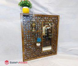 فروش عمده آینه دیواری طاقچهدار چوبی