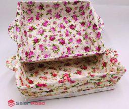 فروش عمده سبد نان و سبزی گلدار