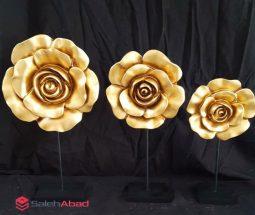 فروش عمده گل رز طلائی دیوارکوب