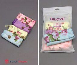 فروش عمده دستمال ۴ تایی گلدار BILOVE