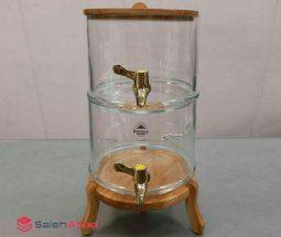 فروش عمده کلمن شیشهای پایه چوبی
