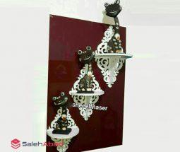 فروش شلف دیواری PVC طرح لوزی