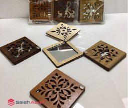 فروش عمده آینه جیبی چوبی طرح مشبک