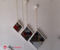 فروش عمده آینه لوزی زنجیر دار ۳ سایز