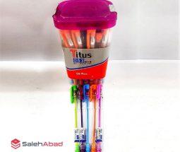 فروش عمده خودکار رنگی TITUS