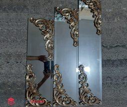 فروش عمده ست آینه مستطیل طرح گل برجسته