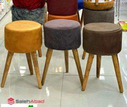 فروش عمده صندلی پاف گرد بلند ۳ پایه