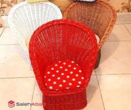 فروش عمده صندلی کودک حصیر بافت رنگی