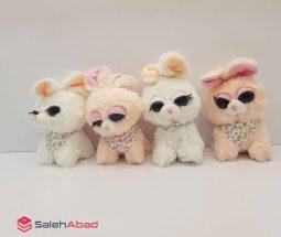 فروش عمده عروسک پولیشی خرگوش مژه دار