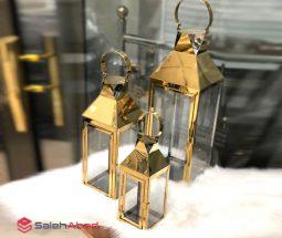 فروش عمده فانوس کنار سالنی طلایی