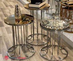فروش عمده میز عسلی آینه ای سه تایی