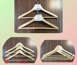 فروش عمده چوب لباسی چوبی ۳ تایی