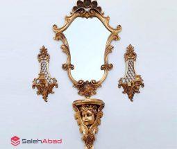 فروش عمده آینه کنسول سلطنتی دیواری