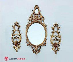 فروش عمده قاب آینه سلطنتی با شمعدان