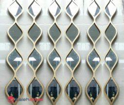 فروش عمده آینه دکوراتیو طرح اشکی ۴ تکه