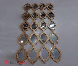 فروش عمده آینه دکوراتیو شاخه ای طلایی