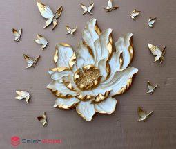 فروش عمده گل و پروانه دیوارکوب