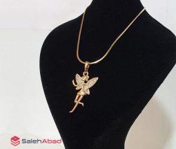 فروش عمده پلاک طرح طلا دختر پروانهای
