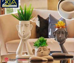 فروش عمده گلدان ۳ تایی طرح مجسمه
