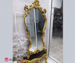 فروش عمده ست آینه قدی و کنسول طلایی