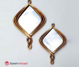 فروش عمده قاب آینه پلی استر طلایی
