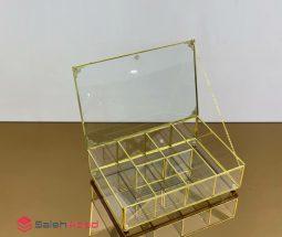فروش عمده جعبه تی بگ ۶ خانه شیشهای