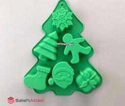 فروش عمده قالب سیلیکونی طرح کاج کریسمس