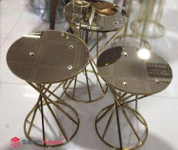 فروش عمده میز عسلی ۳ تایی آینه ای