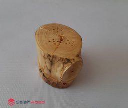 فروش عمده نمکدان چوبی سه قلو