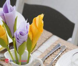 فروش عمده نگهدارنده دستمال طرح گل رز