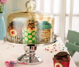 فروش عمده کیک خوری پایهدار طرح گوزن