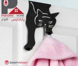فروش عمده آویز حوله روی درب طرح گربه