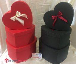 فروش عمده جعبه کادو قلبی شکل ۳ سایز