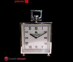 فروش عمده ساعت رومیزی استیل مربعی