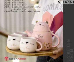 فروش عمده سرویس چای خوری طرح گربه