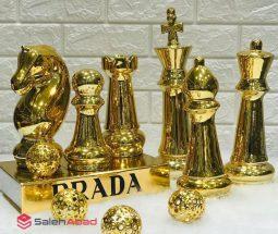فروش عمده ست مهره شطرنج طلایی