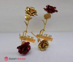 فروش عمده گل رز فلزی کادویی
