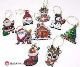 فروش عمده آویز چوبی درخت کریسمس