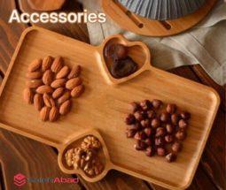 فروش عمده اردو خوری چوبی بامبو سه خانه