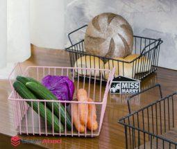 فروش عمده سبد نان مربعی دسته دار