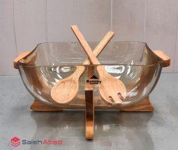 فروش عمده ظرف سالاد پایه چوبی