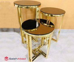 فروش عمده میز عسلی آینه ای طلایی