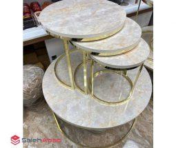 فروش عمده میز کنار مبلی سنگی