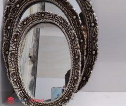 فروش عمده آینه دیواری بیضی گلدار
