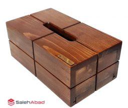 فروش عمده جعبه دستمال کاغذی چوبی تلن