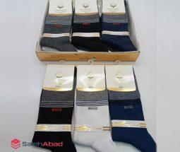 فروش عمده جوراب مردانه نانو ساق بلند